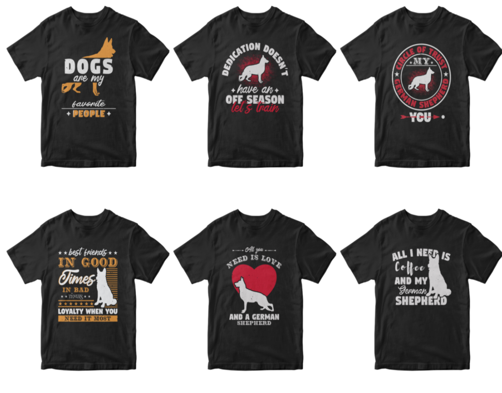 50-editable-german-shepherd-t-shirt-design-bundle