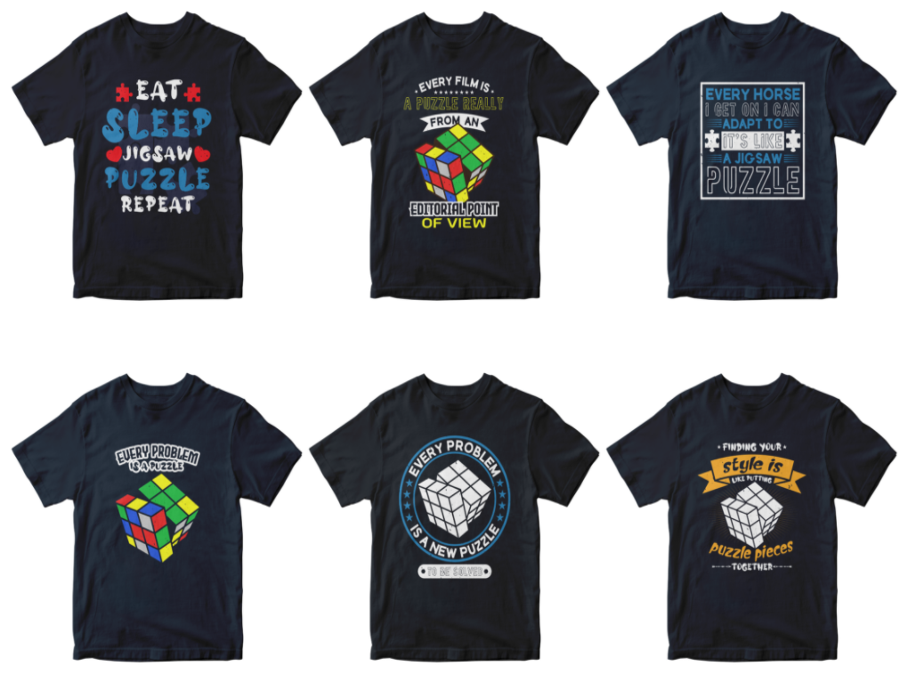 50-editable-puzzle-t-shirt-design-bundle