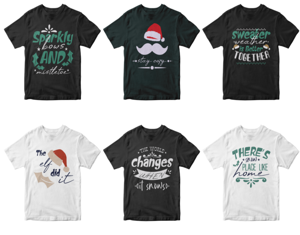50-editable-christmas-t-shirt-design-bundle