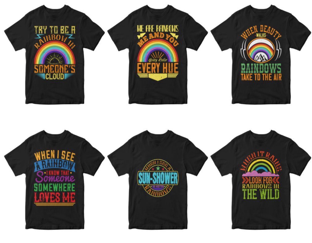 50-editable-rainbow-tshirt-design