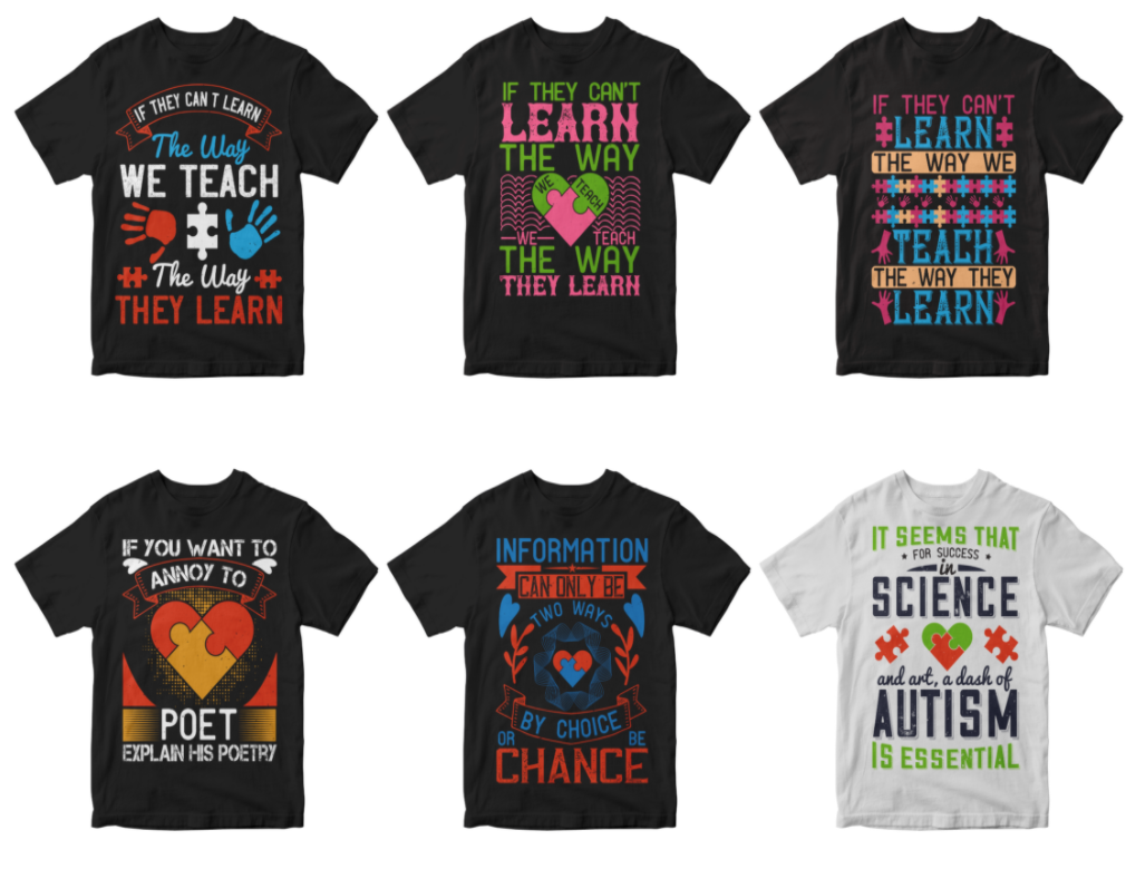 50-editable-autism-tshirt-design-bundle
