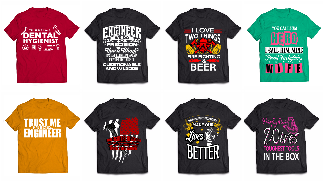 T Shirt Design Bundle Job Designs