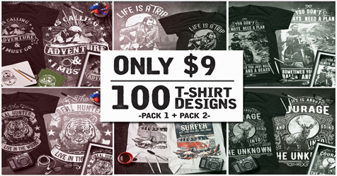ccae73d226e Get your hands on 100 premium T-Shirt Designs in vector format. Scale  images up or down to any size you require without losing an ounce of detail.