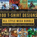 100 T-Shirt Designs Mega Pack