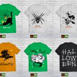 90 T-shirt design halloween Bundle