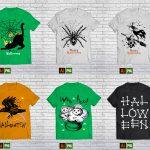 90 T-shirt design halloween Bundle