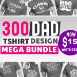 300 Papa t-shirt designs bundle